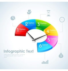 Business infographics pie chart vector