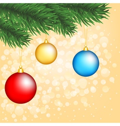Christmas tree with balls vector image vector image