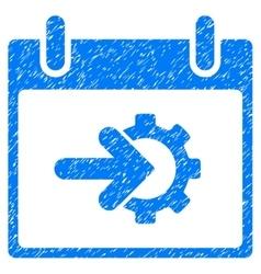 Cog integration calendar day grainy texture icon vector
