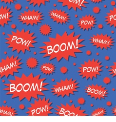 Comic book speech bubbles seamless pattern vector