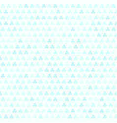 Cyan shamrock pattern seamless vector