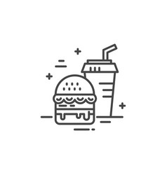 Fastfood line icon vector