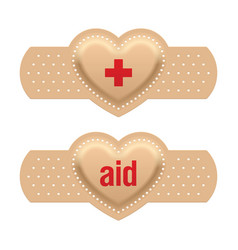 first aid with love vector image vector image