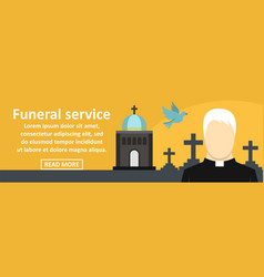 Funeral service banner horizontal concept vector
