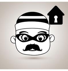 Hacker security house vector