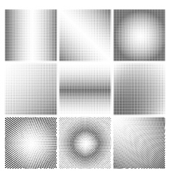 Halftone dots black and white backgrounds vector image
