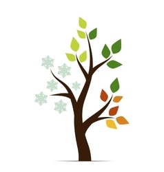 icons four seasons vector image