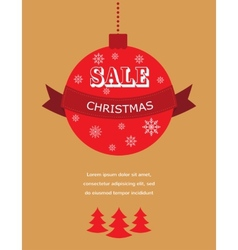 Large Christmas sale Decorations with discount vector image