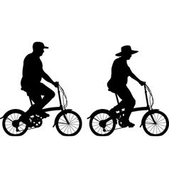 Large cyclists vector image