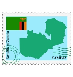 mail to-from Zambia vector image vector image
