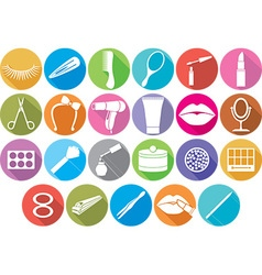 Make up accessories icon vector