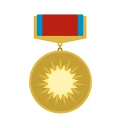 Medal of valor flat icon vector