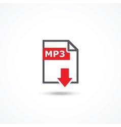 Mp3 download icon vector image vector image