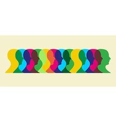 multicolored social interaction vector image vector image