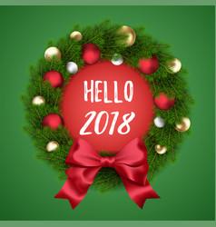 New year wreath vector