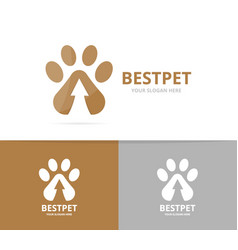 Paw and arrow up logo combination pet and vector
