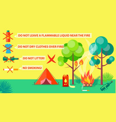Poster of campground rules and regulations vector