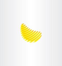 potato chips logo icon vector image