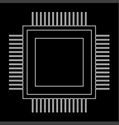 processor the white path icon vector image