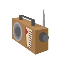 Radio receiver icon cartoon style on white vector image vector image