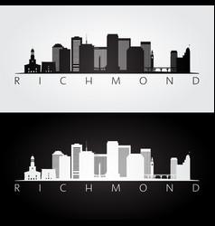 Richmond usa skyline and landmarks silhouette vector