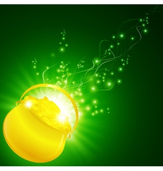 saint patrick golden pot vector image