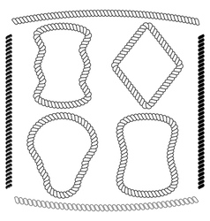 Set of rope frames rectangular shape vector