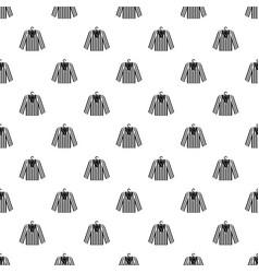 Striped pajama shirt pattern vector