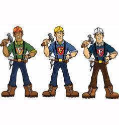 Superhero construction guy vector