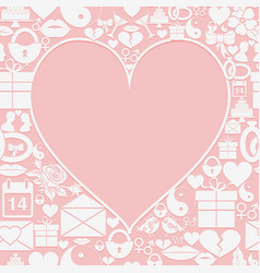 valentines day card with empty space in the form vector image vector image