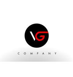 vg logo letter design vector image