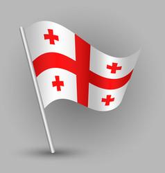 Waving triangle american state flag georgia vector