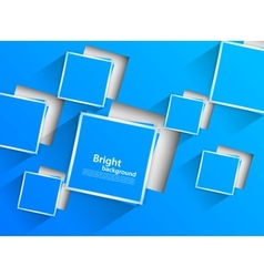 Blue background with blue squares vector image