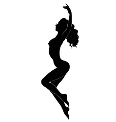 Silhouette of girl vector