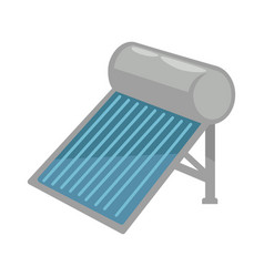 Solar battery in shiny metal corpus isolated vector