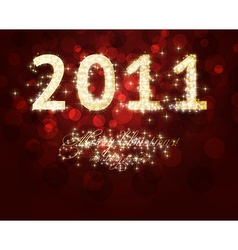 2011 new year font vector
