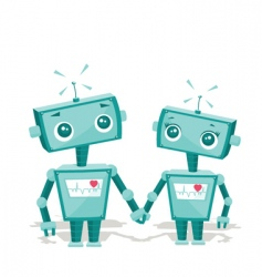 robot cartoon vector image