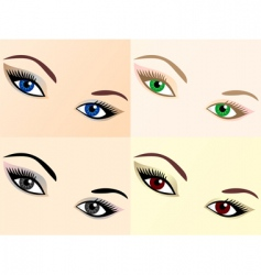 Eye images vector