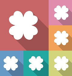 Four leaf clover icon vector