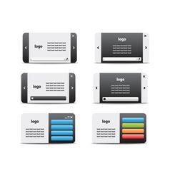 web business card set 04 vector image