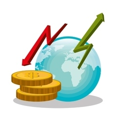 Bankglobal economy and money savings vector