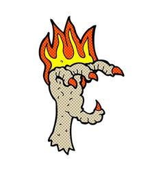 Comic cartoon spooky claw vector