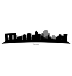 Thailand silhouette skyline vector image