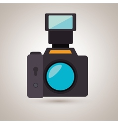 Digital camera design vector