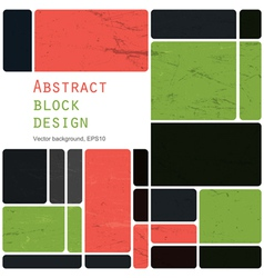 abstract block design background vector image vector image