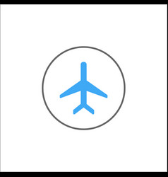 Airplane mode solid icon mobile sign vector