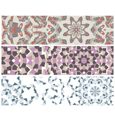 Banners with colorful pattern vector image