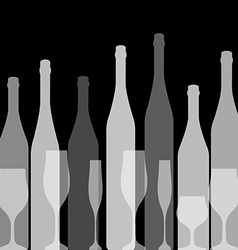 Bottles silhouette black vector