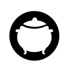 Cauldron old isolated icon vector