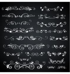 Chalkboard vignette vector image vector image